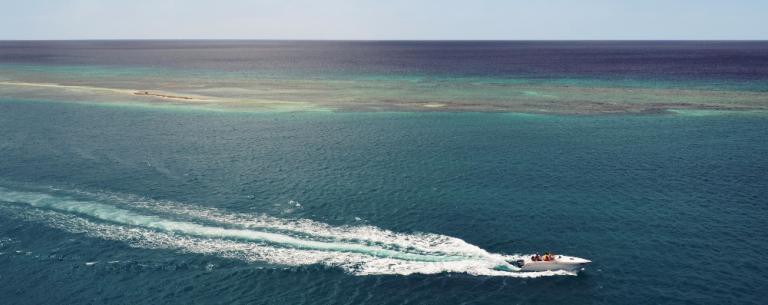 Motorboat at Sea